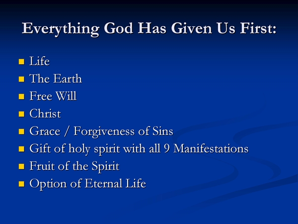 Everything God Gave Us First