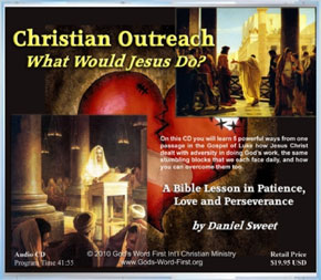 Back of Christain Outreach CD - WWJD?