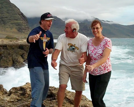 Daniel Sweet with Dad and sister in HI, 2012